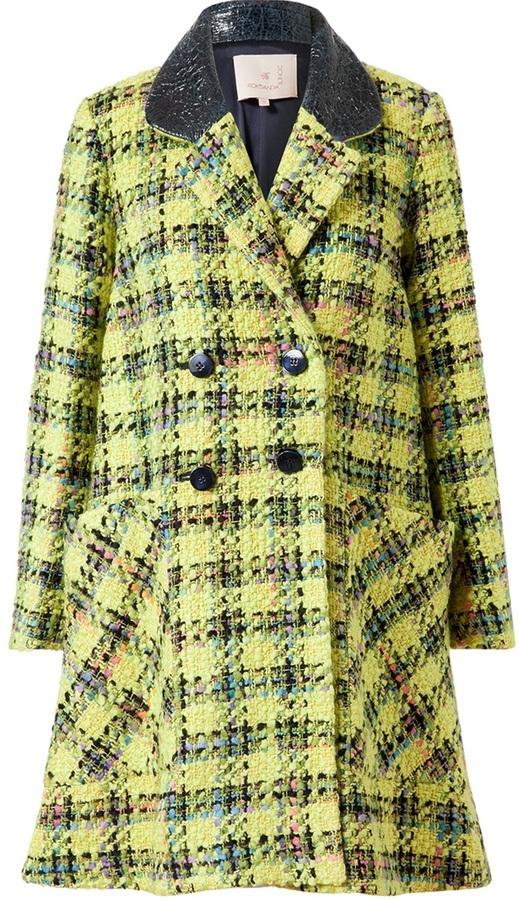 Roksanda Ilincic Elwood Giant Plaid Tweed Coat
