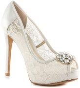 GUESS Hotspot Women US 9 White Peep Toe Platform Heel