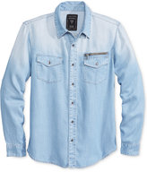 GUESS Men's Long-Sleeve Chambray Shirt