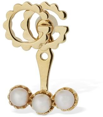 Gucci 18kt Gold Gg Running Mono Earring