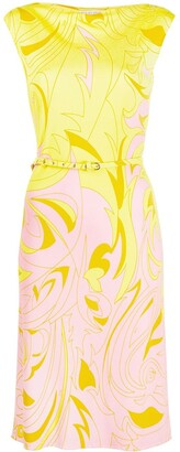 Emilio Pucci Dinamica Degrade belted dress