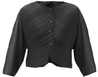 Pleats Please Issey Miyake Musical Score Technical-pleated Jacket - Black