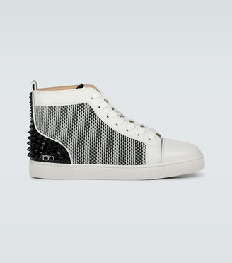 Christian Louboutin Lou Spikes III leather sneakers