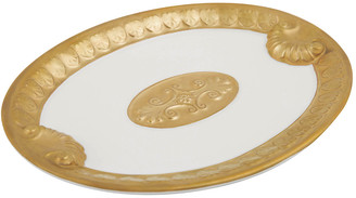 Villari - Impero Soap Dish - White & Antique Gold