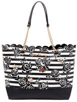Betsey Johnson Glam Garden Striped Tote