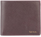 Paul Smith logo plaque billfold wallet - men - Calf Leather - One Size
