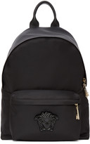 Versace Black Nylon Medusa Backpack