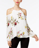 Thalia Sodi Floral-Pinrt Cold-Shoulder Top, Only at Macy's