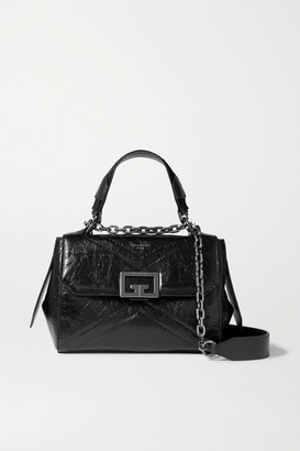 Givenchy Id Small Glossed Textured-leather Tote - Black