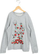 Stella McCartney Girls' Strawberry Print Pullover Sweater