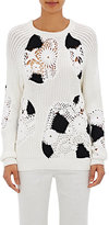 Derek Lam Women's Crocheted-Inset Sweater-BLACK, WHITE, NO COLOR