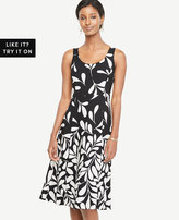 Ann Taylor Falling Leaves Flare Dress