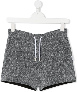 Gcds Kids TEEN metallic track shorts