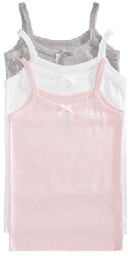 Maidenform Little Girls & Big Girls 3-Pack Cotton Camisoles