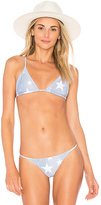 Stone Fox Swim Sol Top in Slate. - size L (also in M,S,XS)