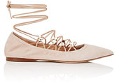 Valentino Women's Rockstud Lace-Up Skimmers-PINK