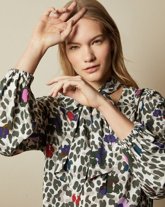 Ted Baker Wilderness Tie Neck Blouse