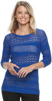 Dana Buchman Petite Openwork Sweater