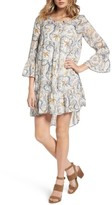 Hinge Women's Ruffle Print Dress
