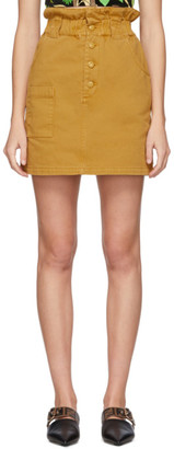 Fendi Tan Denim Button-Up Miniskirt