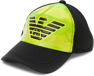 Emporio Armani Mesh Panel Logo Baseball Cap