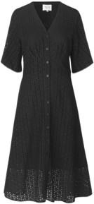 Second Female - Mille Short Sleeve Black Embroidered Dress - black | M (12) - Black/Black