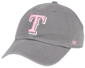 '47 Texas Rangers Dark Gray Pink Clean Up Cap