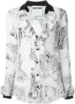 Moschino fashion show print blouse - women - Silk - 40