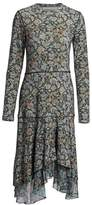 See by Chloe Long Sleeve Floral Midi Dress