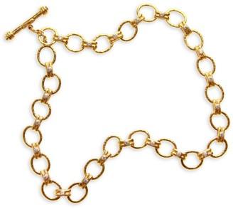 Elizabeth Locke Gold Rimini 19K Yellow Gold & Diamond Medium-Link Toggle Necklace