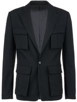Juun.J Cargo pocket wool basketweave blazer