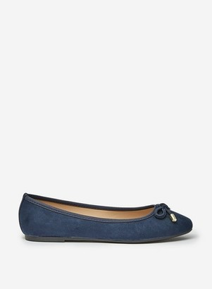 Dorothy Perkins Womens Wide Fit Navy 'Peach' Pumps