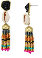 BaubleBar Conch Tassel Earrings