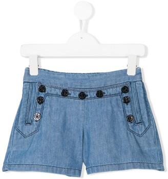 Chloé Kids pinafore denim shorts