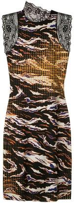 À La Garçonne printed Fire bodycon dress