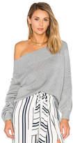 Lovers + Friends Fun Seeker Sweater in Light Gray