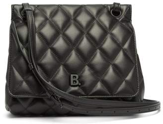 Balenciaga B-logo Quilted Leather Bag - Womens - Black