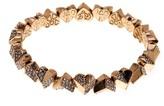 Betsey Johnson Heart Beaded Stretch Bracelet