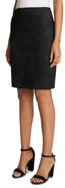 Tahari ASL Faux-Suede Pencil Skirt