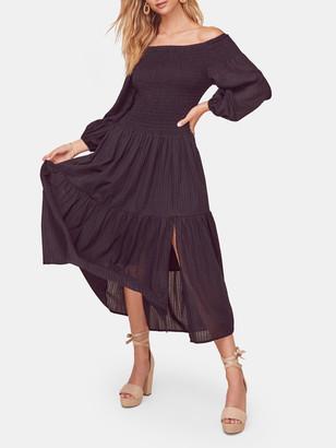 ASTR the Label Utopia Off-the-Shoulder Midi Dress