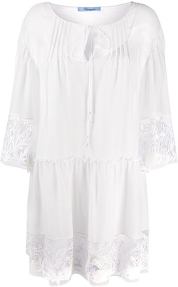 Blumarine Embroidered Trim Shirt Dress