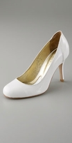 Juliana Jabour Patent Round Toe Pump