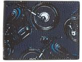 Salvatore Ferragamo Men's Motorcycle Leather Wallet - Blue