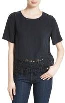 Equipment Women's Brynn Lace Hem Silk Top