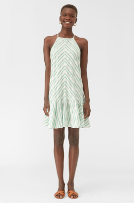 Rebecca Taylor Emerald Stripe Tank Dress