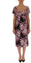 Dolce & Gabbana Off-The-Shoulder Floral Dress