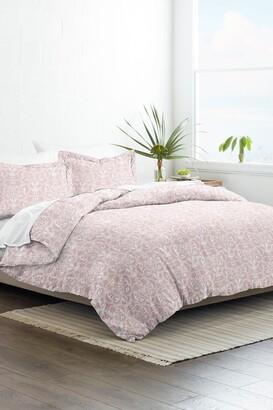 IENJOY HOME Home Collection Premium Ultra Soft Romantic Damask Pattern 3-Piece Duvet Cover Set - Pink