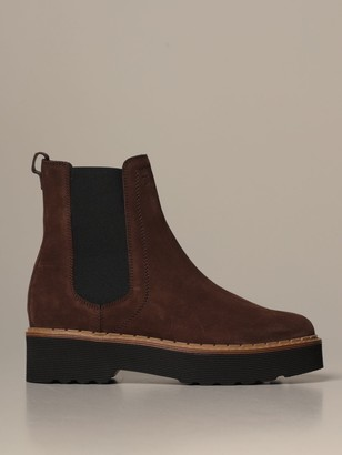 Tod's Tods Flat Booties Tods Chelsea Boot In Suede