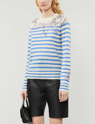 Zadig & Voltaire Graphic-print cashmere jumper