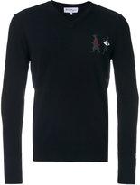 Salvatore Ferragamo v-neck embellished sweater - men - Cashmere/Virgin Wool - L